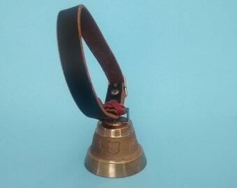 Vintage Unmarked Brass Swiss Cowbell