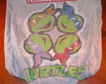 Handmade Bag Recycled T-Shirt Bag Ninja Turtles