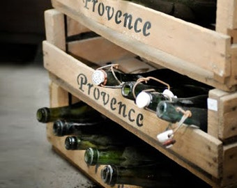 LOT OF TEN Vintage Provence Crate