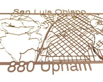 Customizable Laser Cut Map