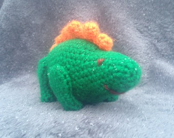 Crochet green Stegosaurus Toy