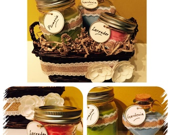 Homemade Soy Candles (set of 3)