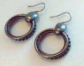 Vintage hoop earrings  earrings 80s earrings vintage earrings vintage hoop earrings hoop earrings drop earrings dangle earrings