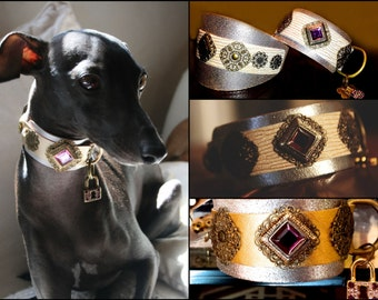 Leather dog collar DEGAS