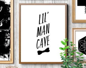 LIL MAN CAVE quote nursery printable boys nursery wall art nursery decor nursery quote boy nursery print boys room prints