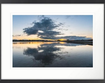 Relaxing Cloud Reflection Framed Photographic Print