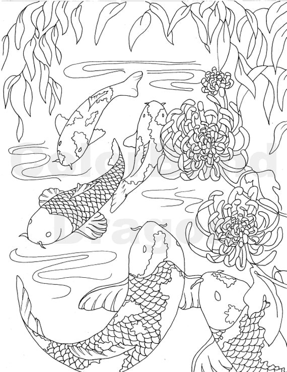 koi coloring pages | Fish Coloring Page coloring pages koi coloring by ...