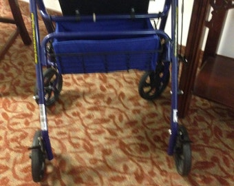 Blue Rollator Replacement Basket Liner