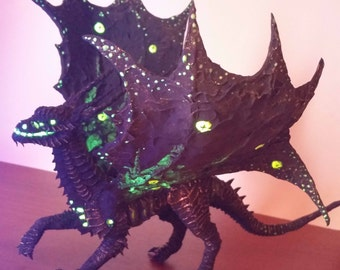 """Black Dragon """"Genocide"""" - handmade fantasy sculpture fanart heroes of might and magic"""