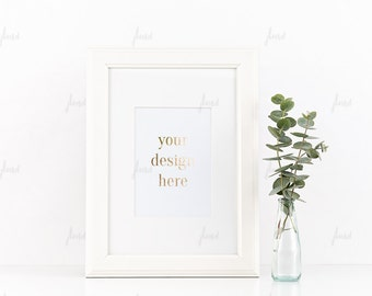 Styled Stock Photography - White Styled Frame - Print Display - Frame Mockup - 0026