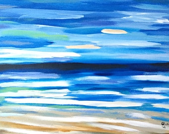 Seascape,Abstract Art,Abstract Painting,Large Art, Canvas Art,Modern Wall Art,Large Abstract Painting,Acrylic,Painting On Canvas,decor