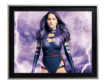 X Men Psylocke Oil Painting mutant splatter watercolor gallery matte print poster