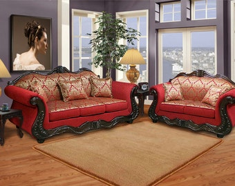 SALE !!!!!  Traditional inspired sofa loveseat set
