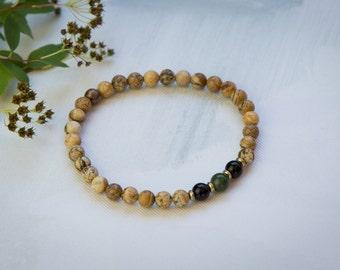 "Bracelet ""harmony"" collection Earth (medium 7 1/4 "")"