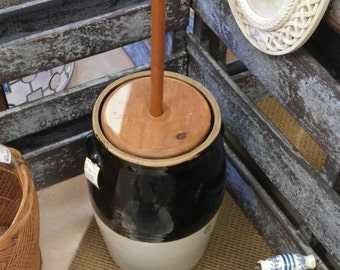 Old Clay Butter Churn