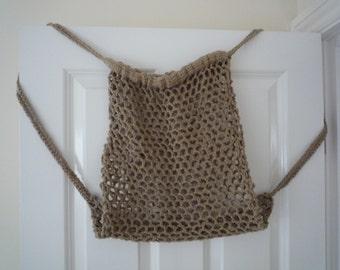 Crochet Market Bag / Backpack, Cotton