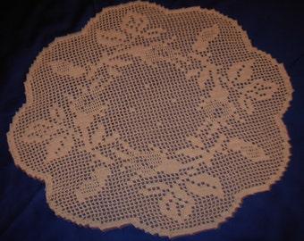Crochet doily flowers, handmade crochet doily