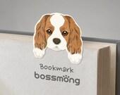 Cavalier King Charles Spaniel Dog magnet bookmark