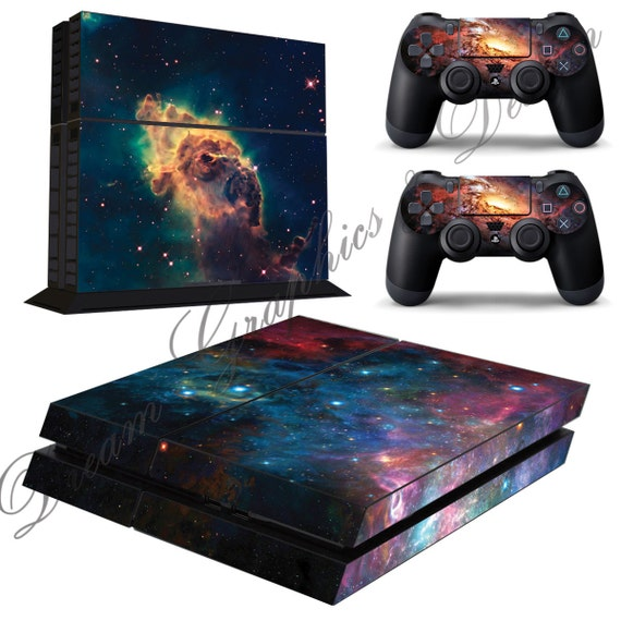 Free Ps3 Console: Galaxy Sticker Skin For Playstation 4 PS4 Console 2 Free PS4