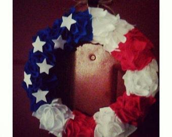 Patriotic American Flag Wreath