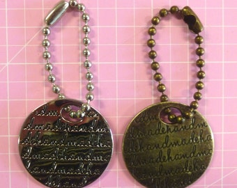 Emmaline Bags Tags Nickel or Antique Brass