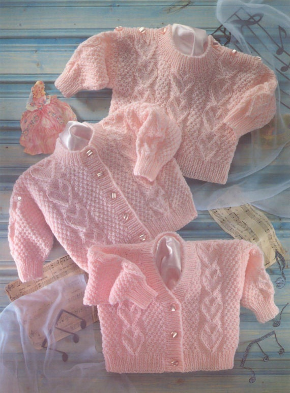 Knitting For Babies Books : Pdf knitting pattern baby s sweater cardigans