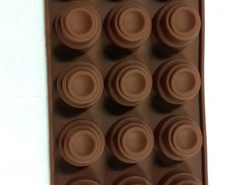Taavi Layered Circles Silicone Mold (Candy, chocolate, ice cubes, finger jello, butter, wax) (T807)