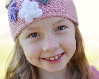 The Caroline Earwarmer Headband With Flowers