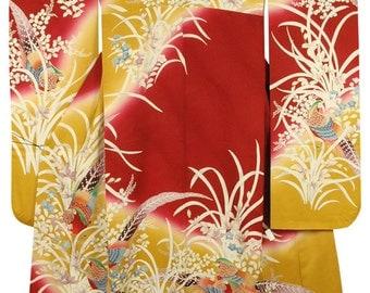 Silk Furisode kimono