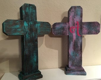 Beautiful handmade rustic wooden crosses