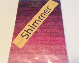 Northcott 2.5 inch strip set, Shimmer Hibiscus, pink Quilting Fabric