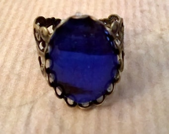 ring cabochon in exceptional colour bronze