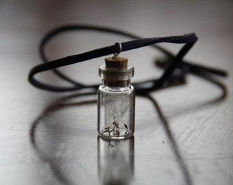 Dandelion seed necklace - Dandelion necklace - Flower necklace - Wish necklace - Charm necklace - Choker necklace - Bridesmaid gift