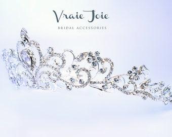 Bridal Crystal Tiara, Bridal Crown, Bridal Hair Accessory, Bridal Jewellery, Victorian Style, Crystal, Rhinestone, Wedding Jewellery