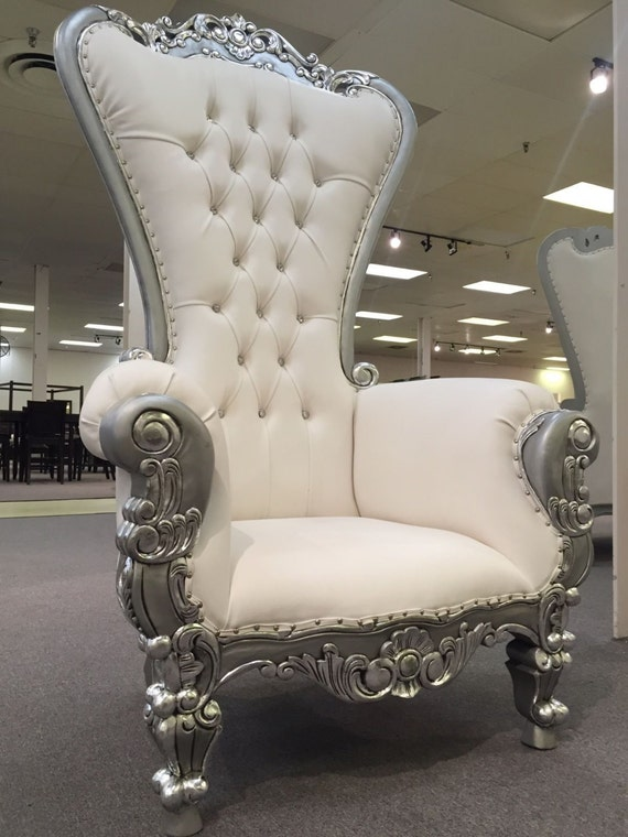 6 Ft. Tall Throne Chair French Baroque Wedding Bride Groom Throne Chairs  High Back Chair