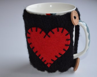 Valentines day gift ideas,Knit Cup Cozy, Coffee Cozy, Tea Cozy, Coffee Mug Cozy, Coffee Cup Cozy, Coffee Cup Sleeve, Knit Coffee Cozy