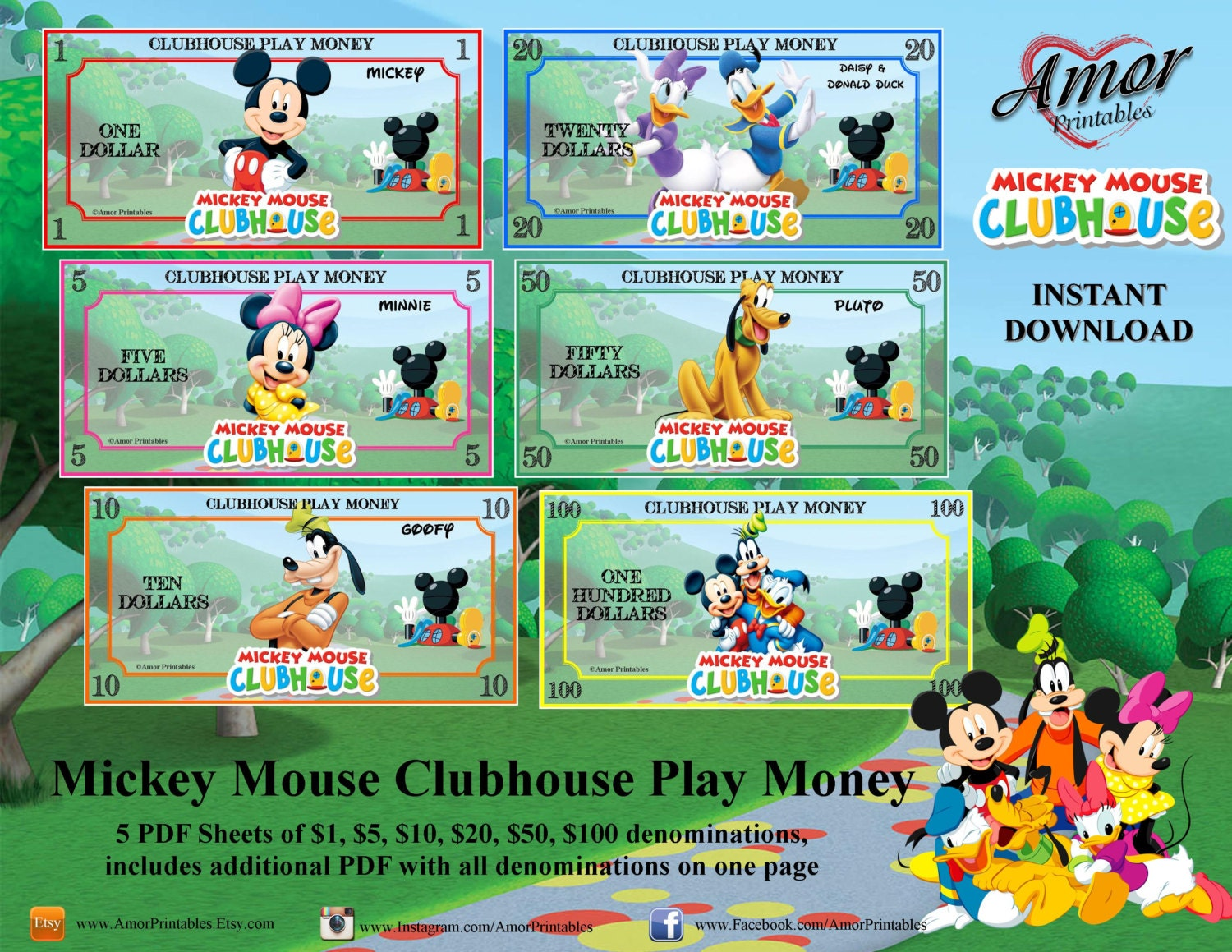 Play Money Mickey Mouse Clubhouse Printable Play Money