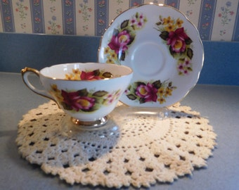 Royal Sutherland NEW Vintage Tea Cup Set from the 1980's