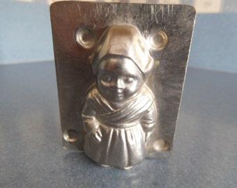 Dutch Girl #10678 Vintage Metal Candy Mold
