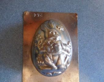 Easter Half Egg #264 Vintage Metal Candy Mold