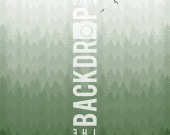 Large Photography Backdrop- Tree Line- 5'x5', 5'x6', 5'x7', 5'x10'