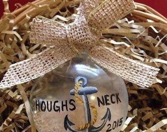 Custom Handpainted Nautical themed Ornament