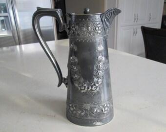 J.H. Potter Silverplate Sheffield Coffee/Tea Pot