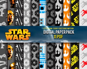 90% Off SALE Star Wars Digital Paper Pack --- OFFER
