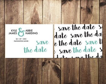 DIY Customisable Wedding Stationery  - Save the Date - Typographic Print