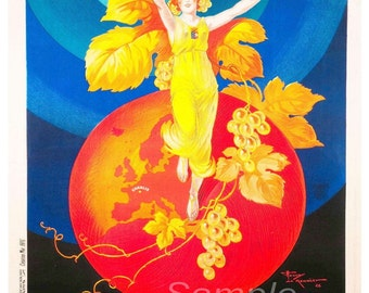 Vintage Chablis Wine Advertising Poster Print