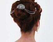 Bridal Hair Chain Diamante