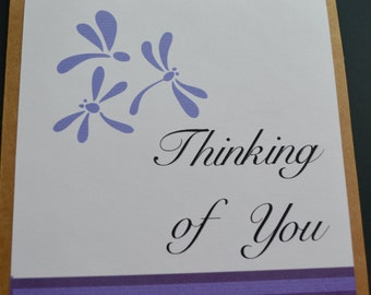 Dragon Fly Thinking of you Note Cards