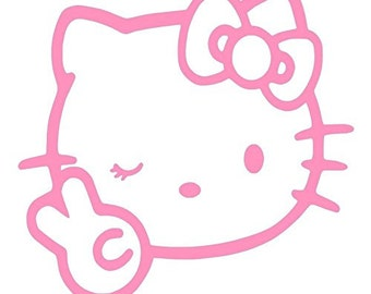 Hello Kitty Double Middle Vinyl Sticker Decal