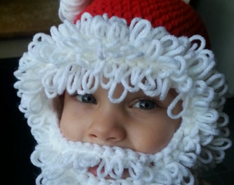 Santa hat with removable beard